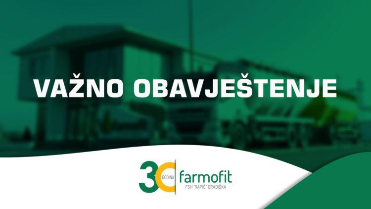 """""""Farmofit"""": Proizvodnja i isporuka stočne hrane se odvija bez poteškoća"""